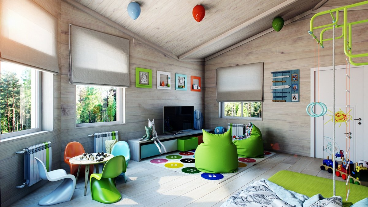 Детская комната на втором этаже