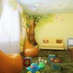 Игровая комната для двух малышей