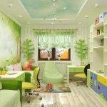 Светло-зеленый в дизайне детской
