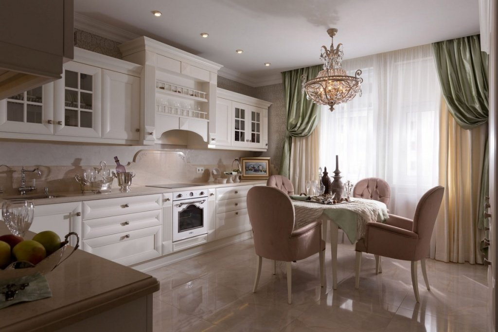 Кухня 3 на 4 в классическом стиле