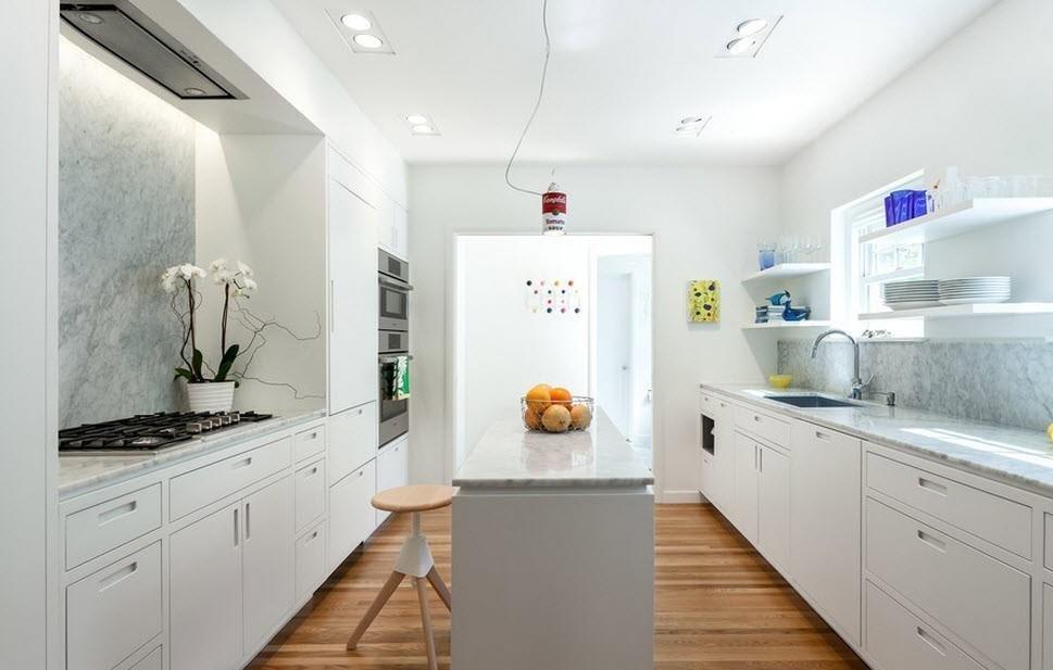 Гарнитур в интерьере кухни 3 на 4