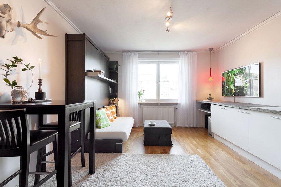 Интерьер квартиры студии 22 кв м