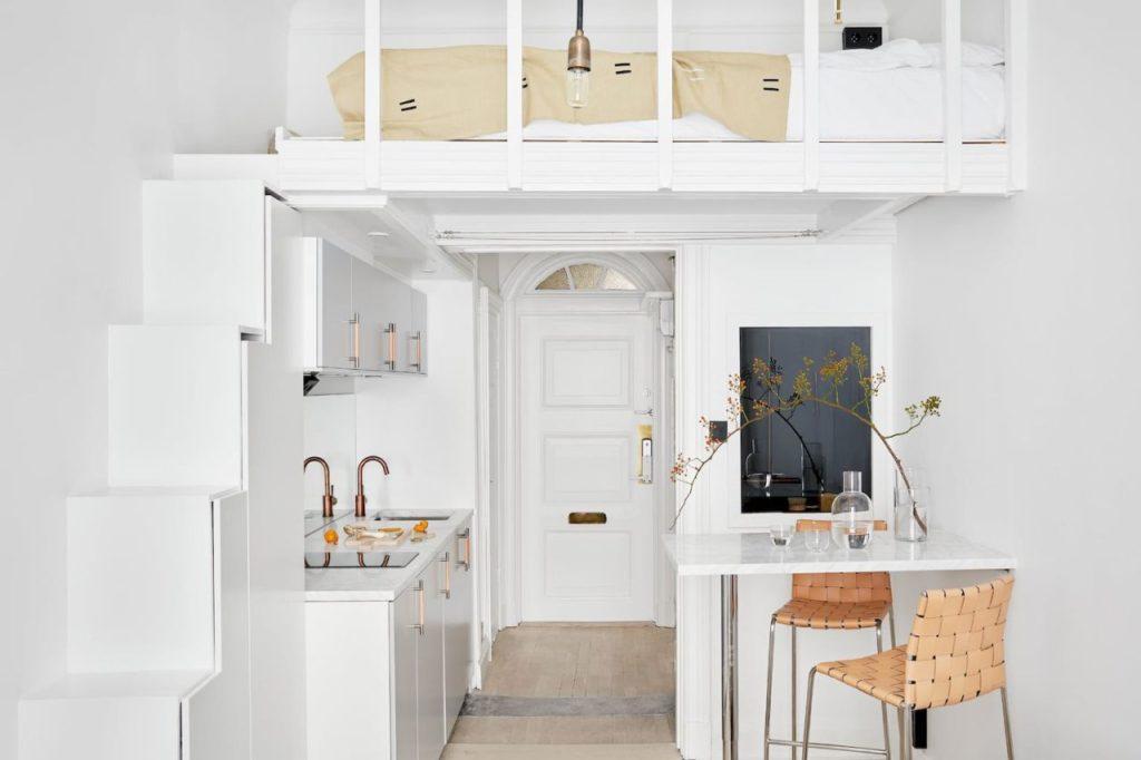 Кухня под спальным местом