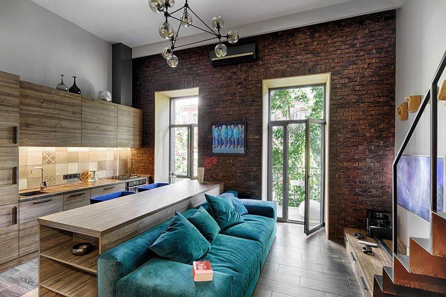 Квартира-студия 22 кв м в стиле лофт