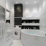 Белый цвет в дизайне ванной