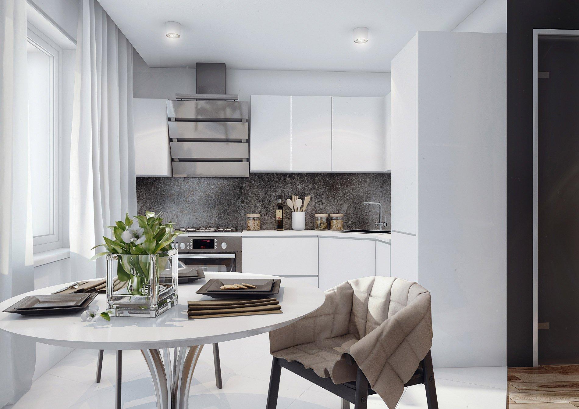 Мебель для кухни белого цвета
