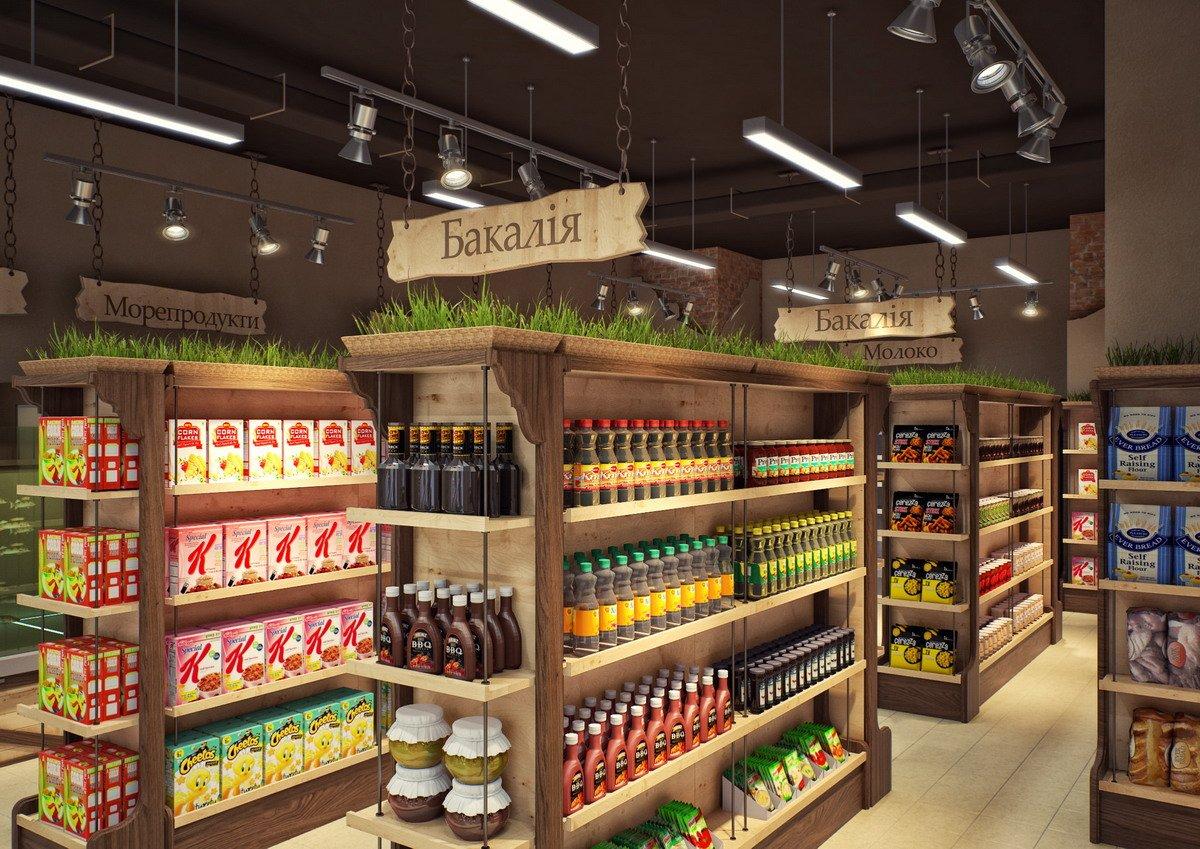 Планировка продуктового магазина
