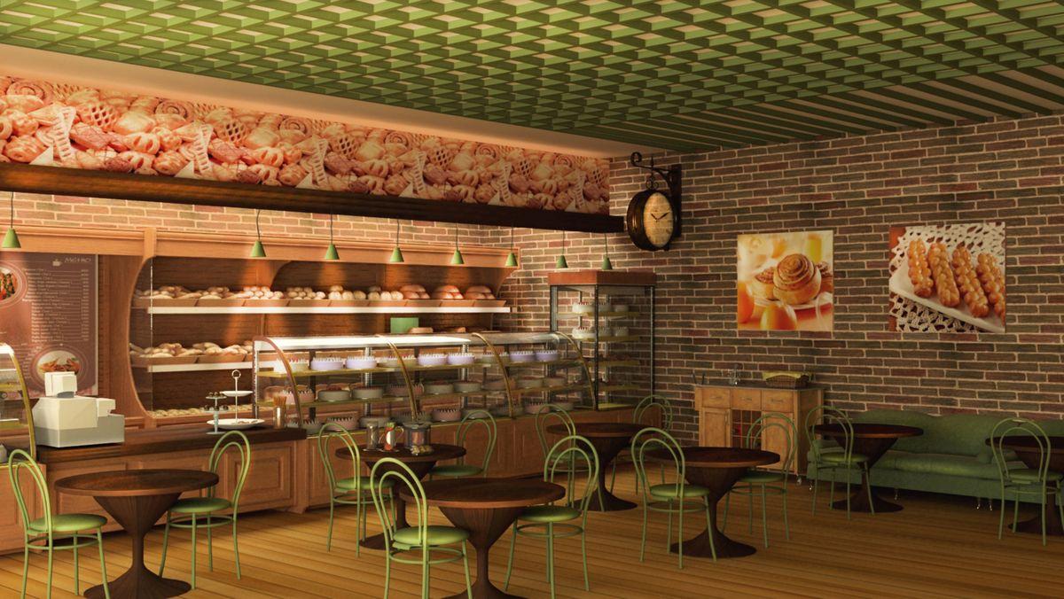 Дизайн магазина кофейни-пекарни