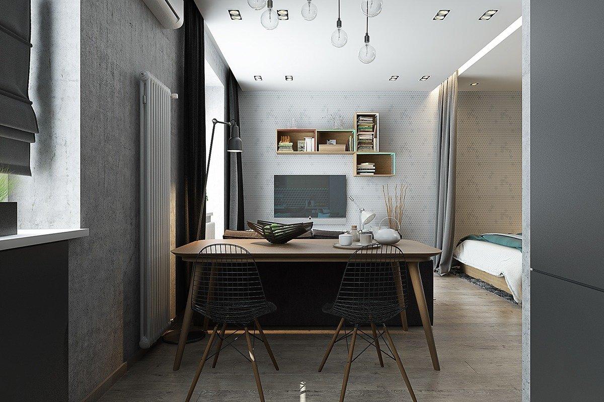 Кровать за шторой