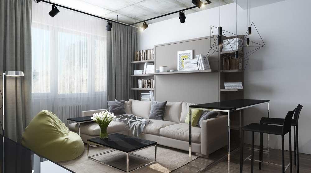 Серая мягкая мебель