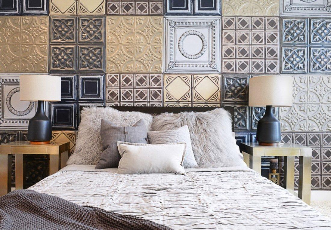 Керамическая плитка в дизайне спальни
