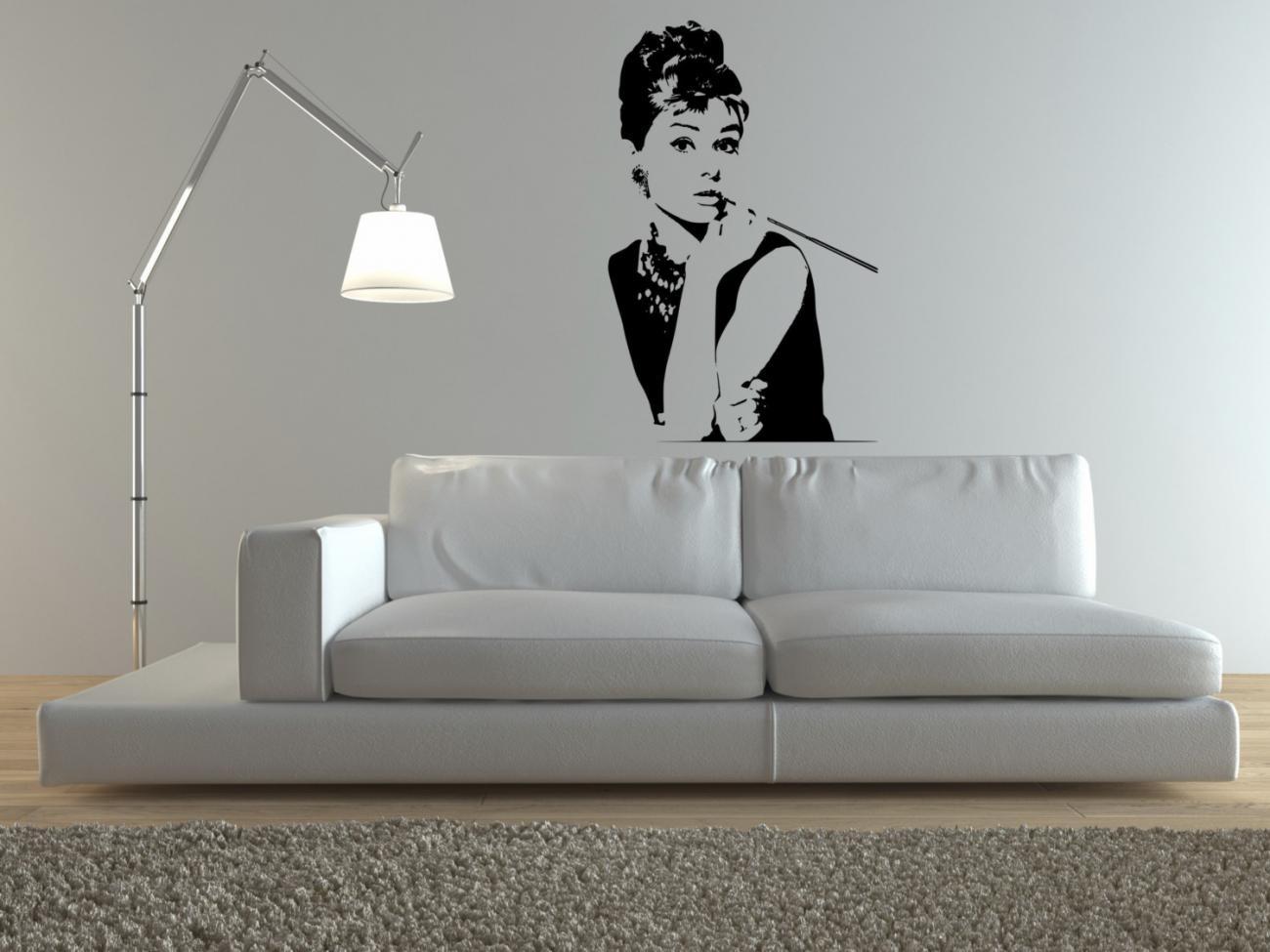 Силуэтный рисунок в дизайне гостиной