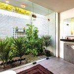 Зимний сад возле ванной
