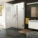 Шоколадный и белый цвет в дизайне ванной