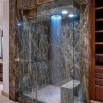 Черный мрамор в дизайне ванной