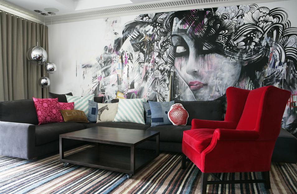 Граффити в гостиной