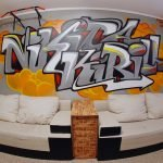 Тумба между диванами
