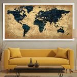 Карта на картине