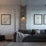 Светильник над диваном