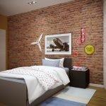 Лампа на тумбочке у кровати