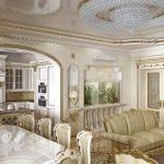 Столовая совмещенная с гостиной