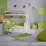 Bunk bed in the interior
