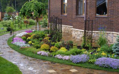 Ландшафтный дизайн участка перед домом