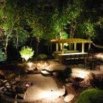 Подсветка двора в вечернее время