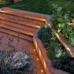 Декоративные садовые ступени с подсветкой