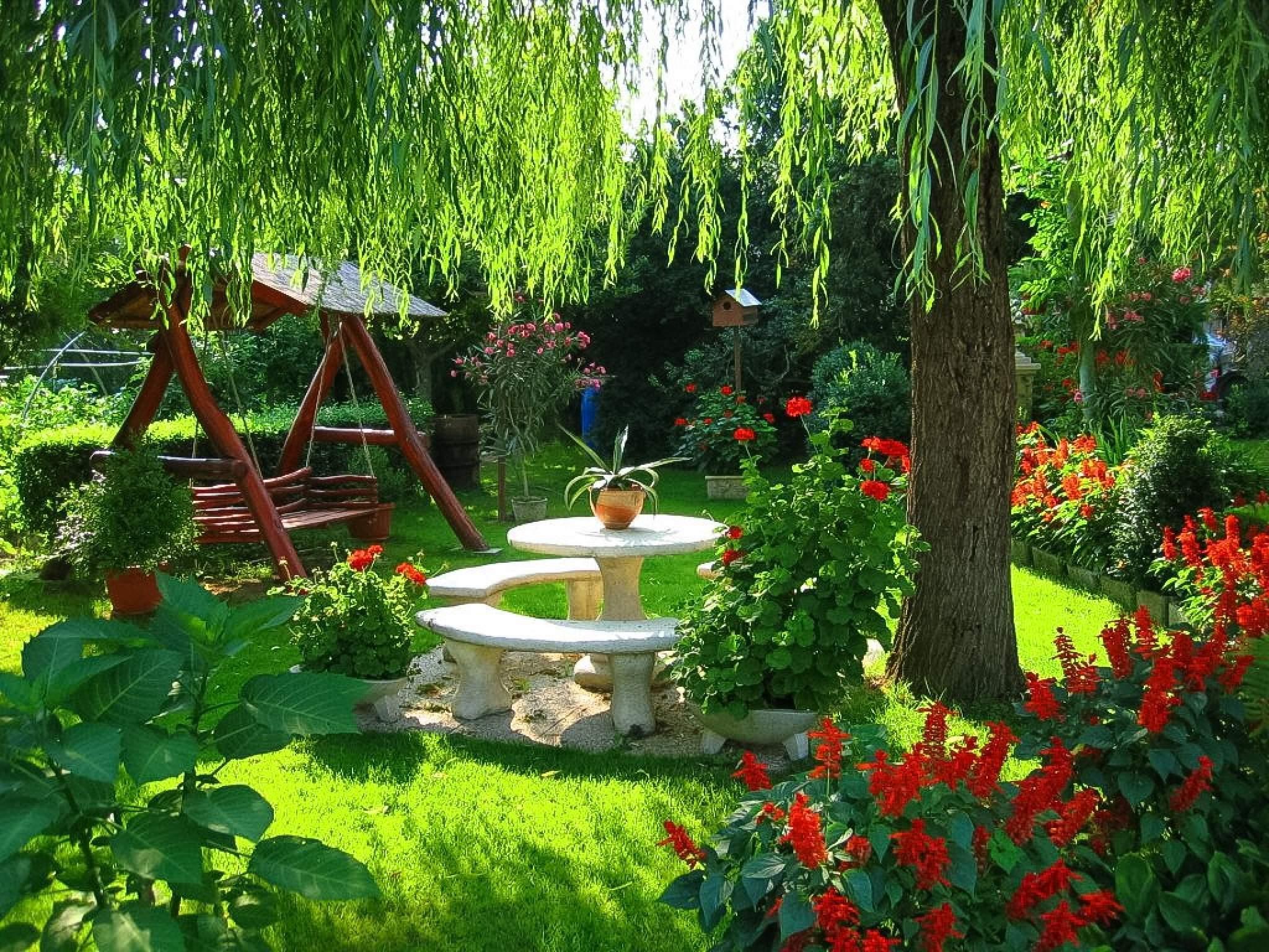 Красивое оформление сада