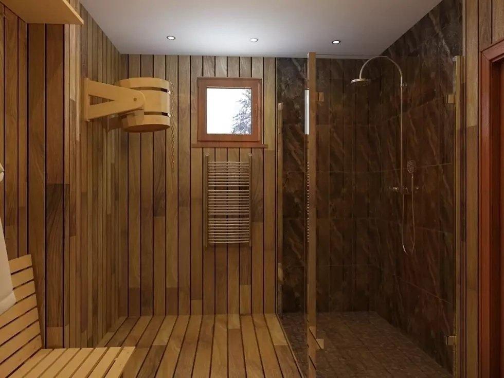 Оформление моечной в бане