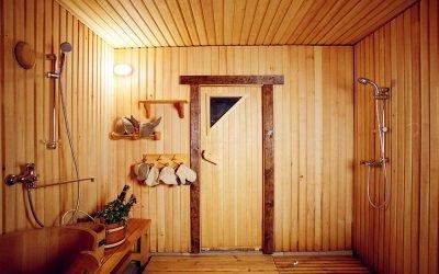 Обустройство моечной в бане: примеры интерьера