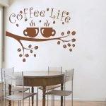Нарисованные чашки с кофе