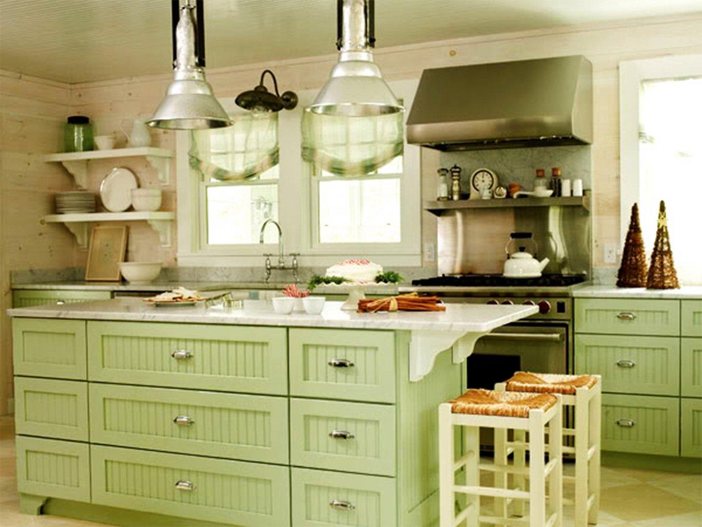 Оливковые ящики и шторы