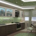 Плитка мозаика на стене и полу