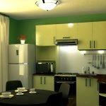 Желтая кухня оливковые стены