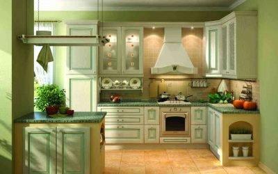 Кухня оливкового цвета: примеры интерьера