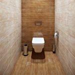 Фактурная плитка в дизайне туалета