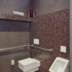 Tile and mosaic in toilet design
