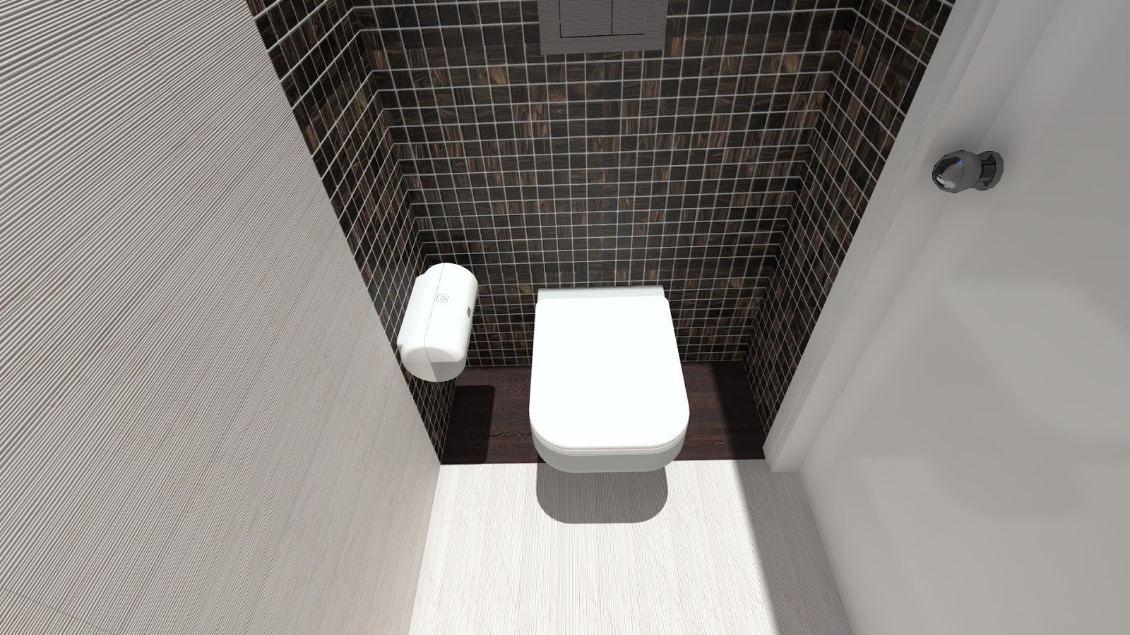 Mosaic tile in toilet design