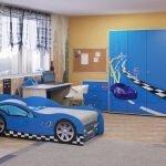 Кровать в виде автомобиля
