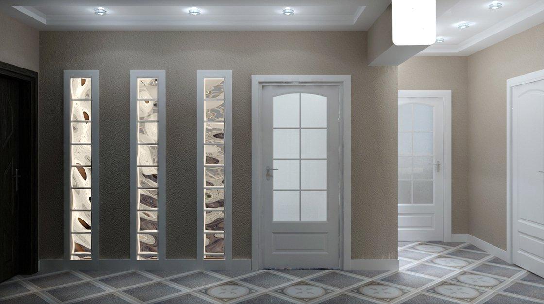 Интерьер со стекоблоками