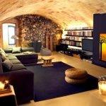 Потолок в виде арки в интерьере