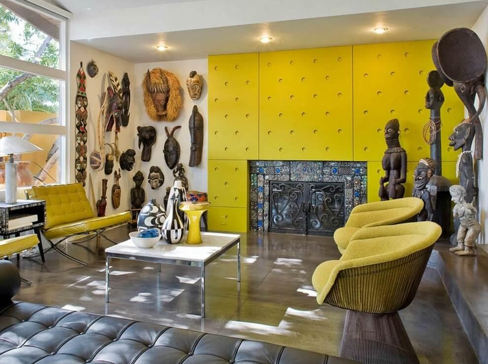 Стеновые панели в отделке интерьера в африканском стиле