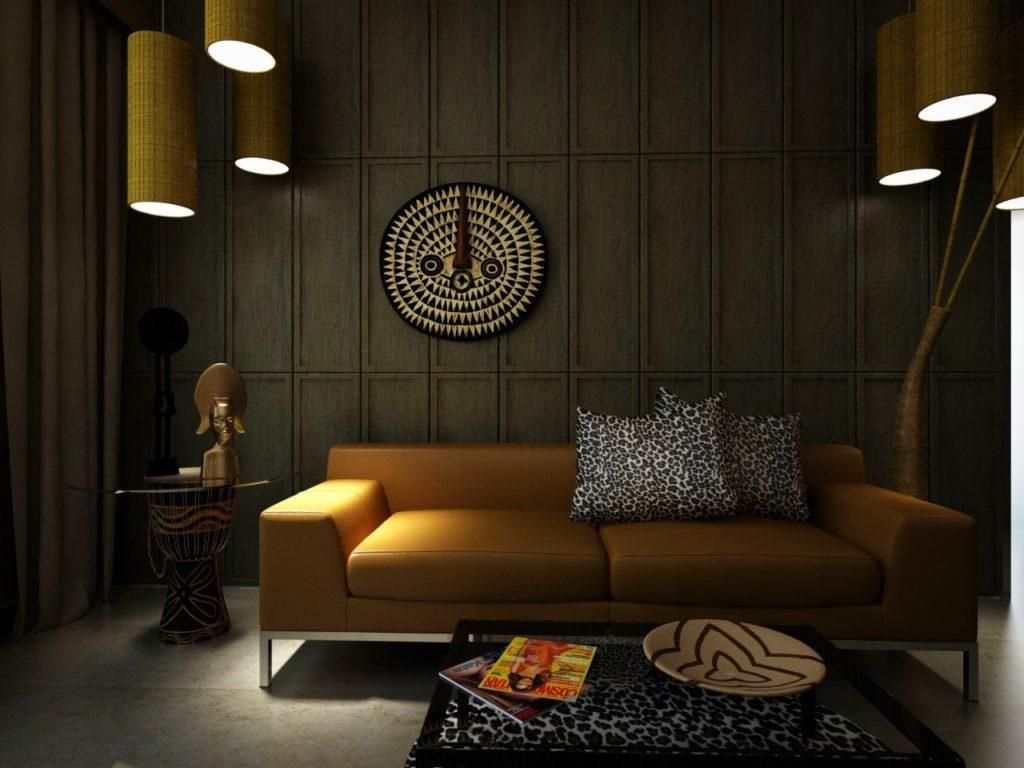Освещение в интерьере в африканском стиле
