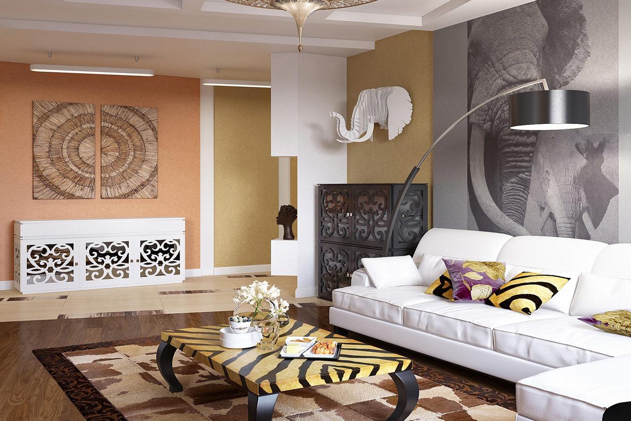 Декор в интерьере в африканском стиле