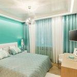 Потолок со светодиодной подсветкой в спальне