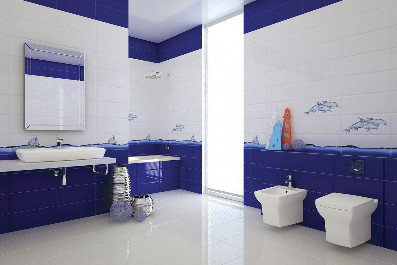 Сочетание белого с другими цветами в ванной