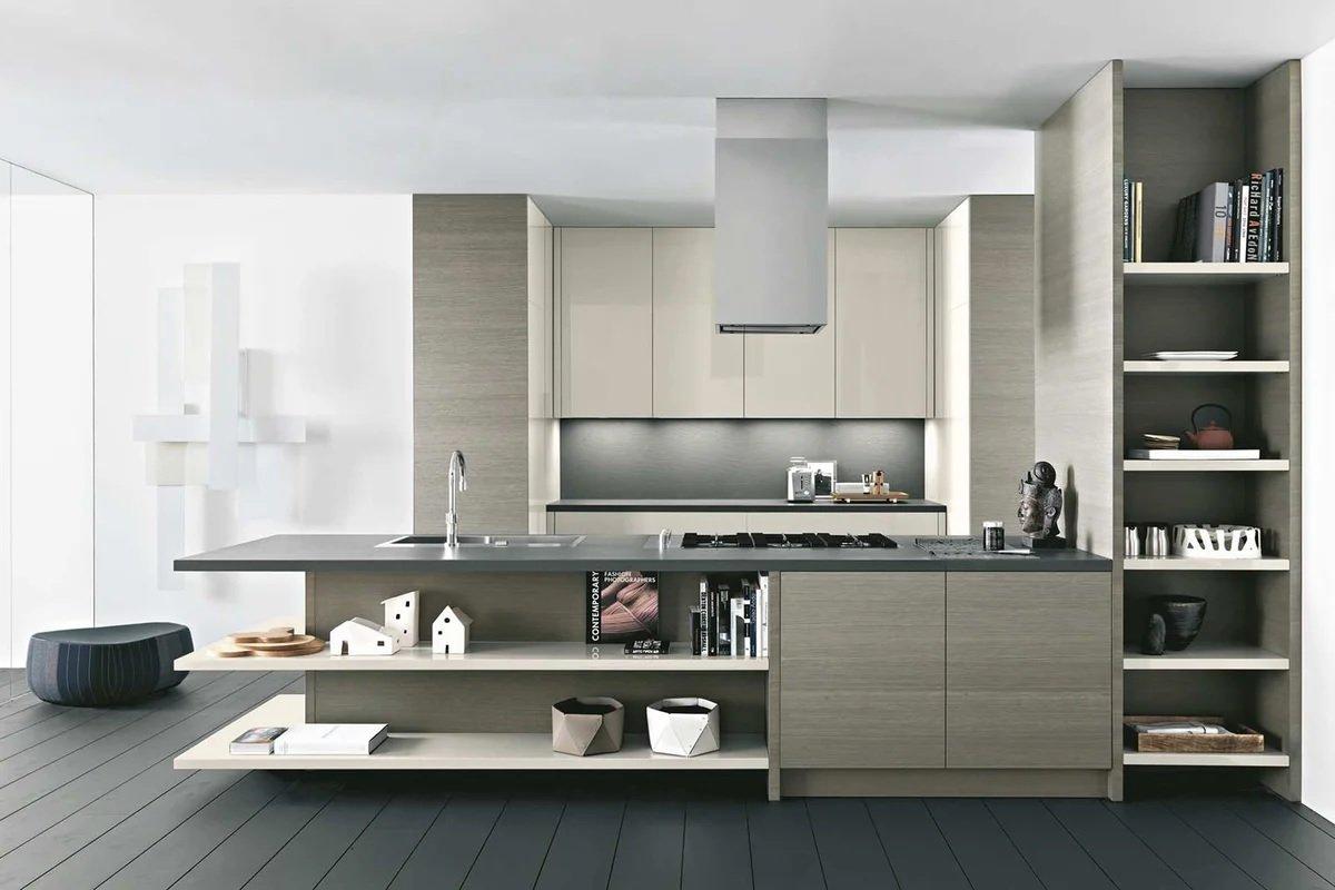 Кухня в стиле модерн в светлых тонах
