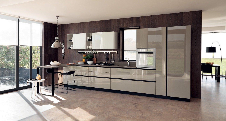 Стеновые панели в отделке кухни в стиле модерн